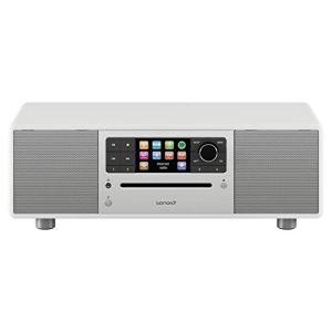 sonoro Prestige 2.1 Radio Internet Numérique (FM/Dab/Dab+/WiFi, Lecteur CD, AUX-in, aptX Bluetooth, Multiroom, Spotify Connect) Blanc – Chaîne HiFi