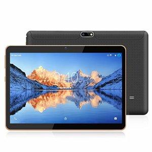 YOTOPT 10.1 Pouces Tablette Tactile – 3G/WiFi, Android 7.0 , Quad Core, 16 Go, 2 Go de RAM, Doule SIM, Bluetooth, GPS, OTG – Noir