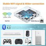 Bqeel Android 8.1 TV Box 【4GB+64GB】 Bluetooth 4.0 Android TV Box USB 3.0 HK1 Max Amlogic RK3328 Quad-Core 64bit Cortex-A53 Wi-FI 2.4G/5G LAN10/100M 4K Android Box Smart TV Box