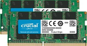 Crucial CT2K16G4SFD824A 32Go Kit (16Gox2) (DDR4, 2400 MT/s, PC4-19200, DR x8, SODIMM, 260-Pin) Mémoire