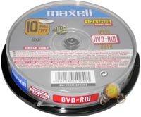 Maxell 275896–Pack DE 10DVD-RW Vierges DE 4.7GB, 2x