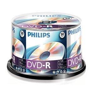 PHILIPS DVD-R 4.7 GB Data / 120 min. 16 X Spindle de 50