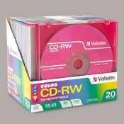 Verbatim–CD-RW, 700MB/80min, 4x, w/fin Jewel Cases, Argent, 100/carton–Ver95160
