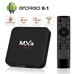 Android 8.1 TV Box 4K Boîtier TV [2019 Dernière Version] SUPERPOW Android 8.1 Smart TV Contrôle Vocal, Android Box avec HD/H.265 / 4K / 3D 2GB RAM+16GB ROM