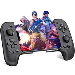 BEBONCOOL Manette de Jeu sans Fil Bluetooth 4.0 pubg mobile controller avec Joystick intégré 300 mAh,Rechargeable gamepad android for PUBGMobile / Fortnite / Arena of Valor / Knives Out