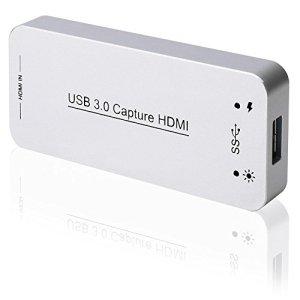 DIGITNOW! HDMI USB 3.0 Vidéo Capture dongle & HDMI Carte Dongle Dispositif Full HD 1080 P Vidéo Audio HDMI vers USB Adaptateur Convertisseur pour Windows Linux Os X Système