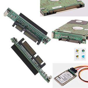 ENET 2X IDE vers SATA Adaptateur 44 Broches 2.5 » IDE HDD SSD Disque Dur Portable Femelle à 22 Broches (7 + 15 Broches) Mâle SATA Convertisseur Carte
