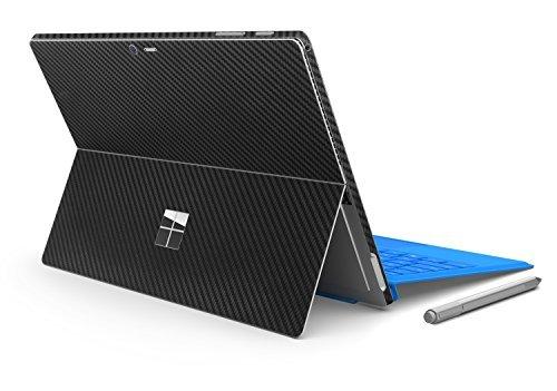 Herngee Protection autocollante en fibre de carbone, PVC, autocollants pour 2017 Surface New Pro et Surface Pro 4 Fibre de carbone Noir