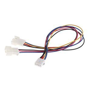 Homyl Câble de Ventilateur Splitter Câble, Convertisseur 1 à 2 Ventilateur 3/4 Broches Pwm