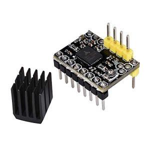 Kingprint Tmc2130V1.1Moteur pas à pas Stepstick Mute Silent SPI prise en charge de pilote avec dissipateur thermique et câble pour imprimante 3d Control Board