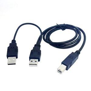 Moligh doll Double USB 2.0 Male A Standard B Male Cable Y 80cm pour Imprimante et Scanner et Disque Dur Externe Disque Dur Externe Drive