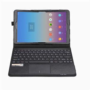 MQ pour Galaxy Tab A 10.5 – Etui avec clavier français (AZERTY) pour Samsung Galaxy Tab A 10.5 LTE SM-T595, Galaxy Tab A WiFi SM-T590 | Housse avec clavier bluetooth, touchpad (pavé tactile) intégré