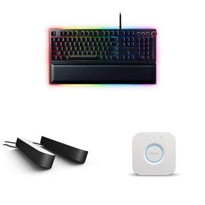Razer Huntsman Elite (FR Layout) x Philips Hue Play (Ensemble de 2) avec Hue Bridge