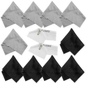 Chiffons de nettoyage en microfibre – Paquet 12x – le nettoyage verres, des lunettes, objectifs d'appareils photo, iPad, Tablets, Phones, iPhone, téléphones Android, ordinateurs portables, écrans LCD