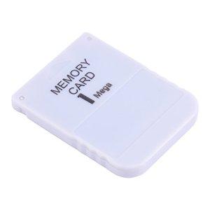 Fosa 1 Mo Carte mémoire Stick pour Sony Playstation 1 One PS1 jeu, blanc