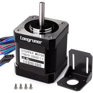 Longruner Moteur pas à pas NEMA 17bipolaire 48mm 84oz. en (59ncm) 2A 4Laisse avec câble de 1m et connecteur pour imprimante 3d CNC pour loisir + 1support de montage + 4pcs 36mm M3Vis Lqd04