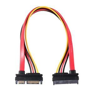 LouiseEvel215 Presa combinata di alimentazione dati seriale SATA a 7 + 15 pin Cavo adattatore di alimentazione seriale da 1pc Cavo TA SATA di vendita Caldo al cavo HDD