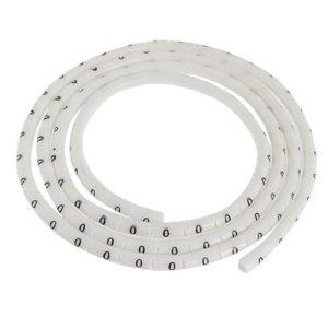 Nombre 0 Imprimer PVC Cable Wire Markers Labels 100 Pcs