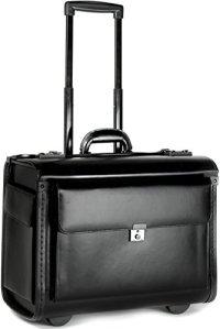 Porte-Documents à roulettes – Taille Cabine – Professionnel/Emplacement pour Ordinateur Portable – Cuir