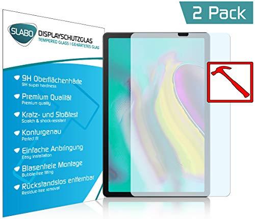 Slabo 2 x Premium Film de Protection d'écran en Verre trempé pour Samsung Galaxy Tab S5e T720 | T725 (10.5″) écran Film Tempered Glass Clair Dureté 9H