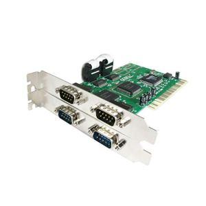 StarTech.com Carte PCI avec 4 Ports DB-9 RS232 – Adaptateur Série – UART 16550