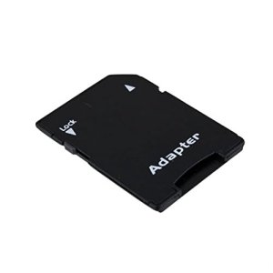 Vige Noir Pleine Grandeur 31x23x2mm verrouillable pour protéger Le Contenu 10pcs TF Flash Carte Trans-Flash à la Carte mémoire convertir Adaptateur