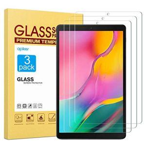 apiker Lot de 3 Verre Trempé Compatible pour Samsung Galaxy Tab A 10.1 2019 (T515/T510), Durabilité Exceptionnelle, Protection écran pour Samsung Galaxy Tab A 10.1 2019 (T515/T510)
