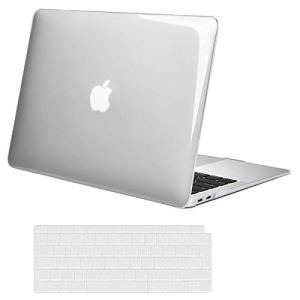 MOSISO Coque Compatible MacBook Air 13 Pouces 2018 A1932 Retina, Plastique Coque & EU AZERTY Protection Clavier Uniquement Compatible Nouveau Mac Air 13 Pouces avec Touch ID, Transparent Cristal