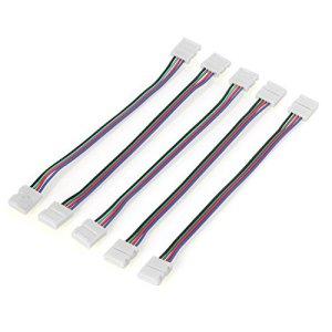 Neuftech 5 x 4 Broches SMD LED RGB Bande Connecteur Adaptateur Connexion Câble Cordon Sans Soudre