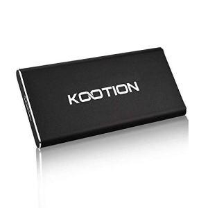 KOOTION Disque Dur SSD Externe 120 Go Ultra-Mince Portable USB 3.0 Solid State Drive en Alliage d'aluminium Étanche Haute Vitesse Jusqu'à 400 MB/s pour PC, Desktop, Laptop, MacBook