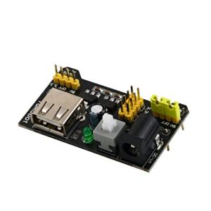 Module d'alimentation pour Planche à Pain MB102 3.3V / 5V Professional pour Panneau de Pain sans Soudure 6.5-12 V (CC) ou Alimentation USB ToGames-FR