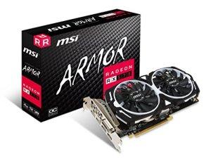 MSI AMD RX 570Armour 4G OC 4Go de mémoire 256Bits GDDR5DVI/DP/HDMI Carte Graphique PCI Express 3–Noir