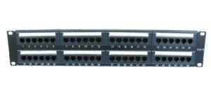 'World of Data–48ports 2U Rack Montable CAT6Patch Panel–Support T568a & b câblage e installation facile–Dual IDC conectador peut accepter 22–26AWG solide et tressée UTP Cables–Compatible avec 110ou outils de Krone–Peut Porter en racks de 19- joue avec les exigences de Tia/EIA-568-B.2Catégorie 6tests de performance