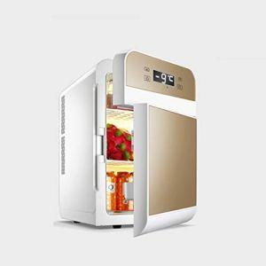 CZBXMini réfrigérateur Refroidisseur et réchauffeur | Capacité 20L | Compact, Portable et Silencieux | Compatibilité Alimentation CA + CC (écran à Affichage numérique à Double Porte Or)