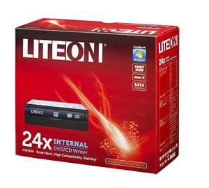LiteOn iHAS324-17 Graveur DVD interne avec Nero 9 24x DVDRW SATA Façade Noir
