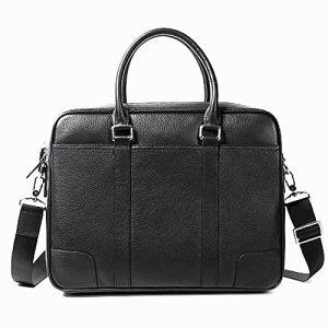 Mallette d'affaires Sac à main pour hommes Sac à bandoulière Sac à bandoulière pour homme d'affaires Sac pour l'école / voyage / femme / homme-BlackBag for Schoo ( Color : Black bag black line )