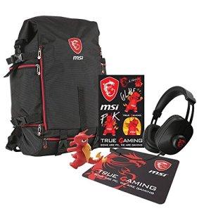 MSI GT Xmas–Pack de Gaming (Tapis de Souris, Porte-clés Dragon, Stickers et Casque)