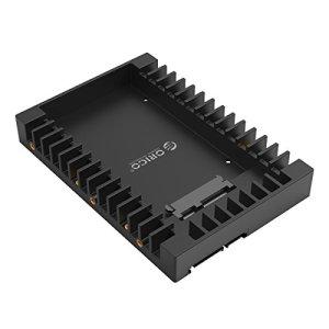 ORICO 2,5» à 3,5» Adaptateur de Montage pour Disque Dur SATA HHD/SSD supporto 2,5 Pouces 7/9,5/12,5 mm – Noir