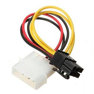 PhilMat Câble adaptateur graphique de cartes PCIe express vidéo 4 broches à 6 broches