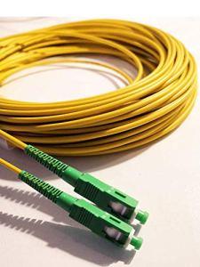 Câble à Fibre Optique (jarretière Optique) SC/APC á SC/APC pour Orange Livebox SFR La Box Fibre Bouygues Telecom Bbox Mobistar (10M)