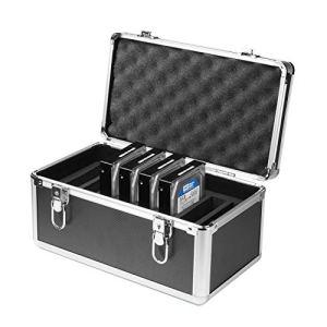 Salcar Coffret en Aluminium pour Disque Dur 10 * 3,5» HDD/SDD Valise Protection Coffret Housse Boîtier pour Disques Durs Noir