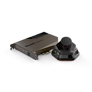 Sound Blaster AE-7 – Carte Son PCI-e Haute résolution DAC/amplificateur avec bi-amplificateur de Casque Discret Xamp et Audio Control Module (Gris/Noir)