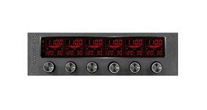 Thermaltake Commander F6RVB LCD seule baie 13,3cm 6canaux contrôleur de ventilateur Ac-024-bn1nan-a1 Contrôleur de ventilateur RGB