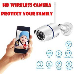 ChallengE-Outdoor Caméra Surveillance WiFi Extérieur, CaméRa Hd720P de SéCurité Nocturne à La Maison sans Fil WiFi IP avec CaméRa de Vision Nocturne