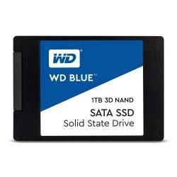 SSD Interne 6.35 cm (2.5 Pouces) 1 to SATA III Western Digital BlueTM 3D NANID WDS100T2B0A Vrac 1 pc(s)