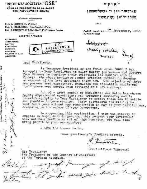 Einstein mektup