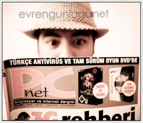 e-vren günlüğü, PCnet Eylül 2009 sayısında