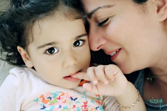 Aylin Mersinlioğlu ve kızı Elizya