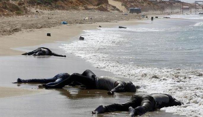 100'ü aşkın Afrikalı göçmenin cansız bedeni sahile vurdu