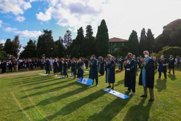 Boğaziçi öğrencileri mezuniyet töreni